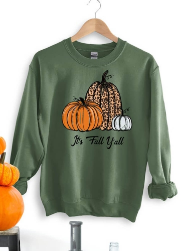 Pumpkins It's Fall Yall Sweatshirt