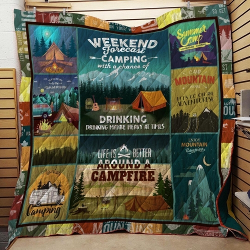 Weekend Camping Blanket Quilt