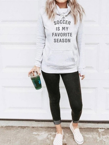 Soccer Is My Favorite Season Tied Sweatshirt