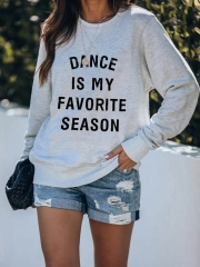 Dance Is My Favorite Season Cotton Sweatshirt