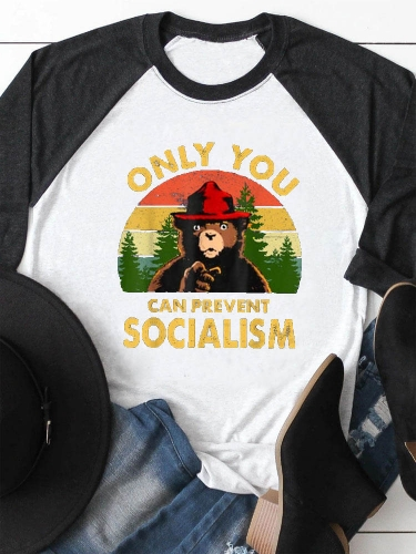 Only You Can Prevent Socialism Smoky The Bear Tee