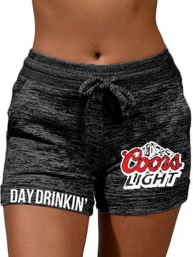 Coors Light Print Casual Shorts