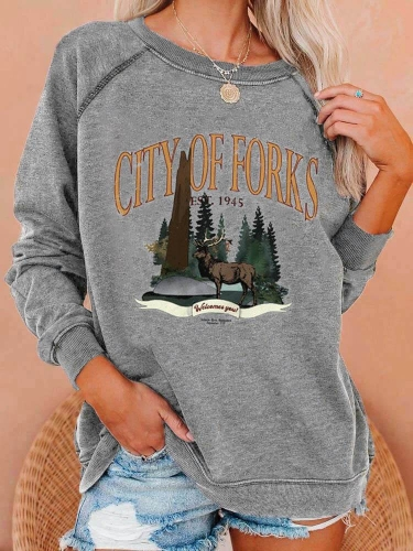 City Of Forks Est. 1945 Sweatshirt