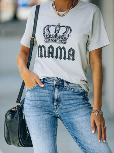 Mama With Crown Tee