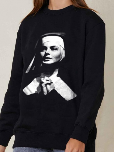 Marry Nun Blackwhite Movie Sweatshirt