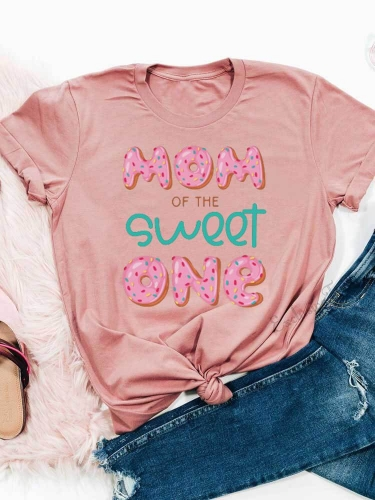 Mom Of The Sweet One Donuts Tee
