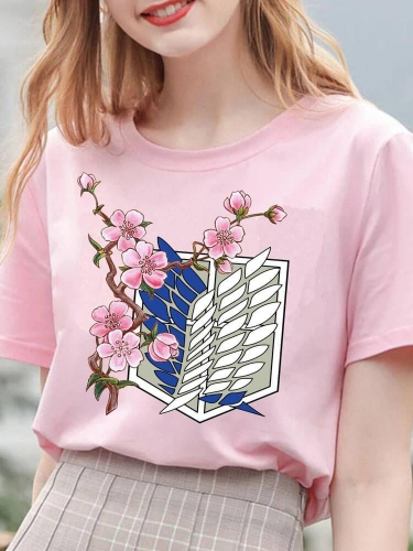 Cherry Blossoms Free Wing Anime Tee